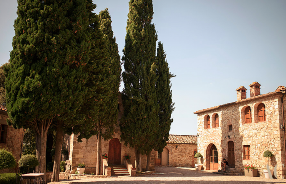 church in a castle for weddings in Tuscany