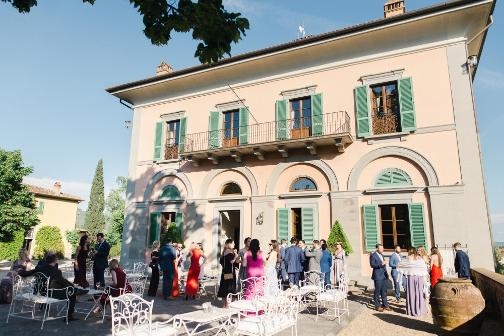 front view of a villa for wedding