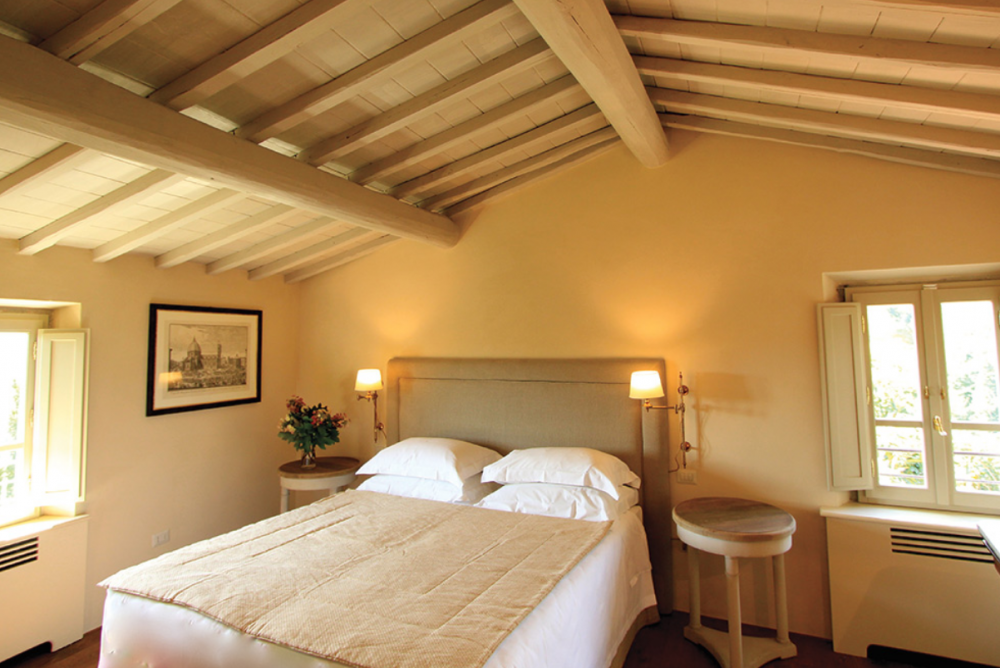 charming room in a wedding villa in tuscany