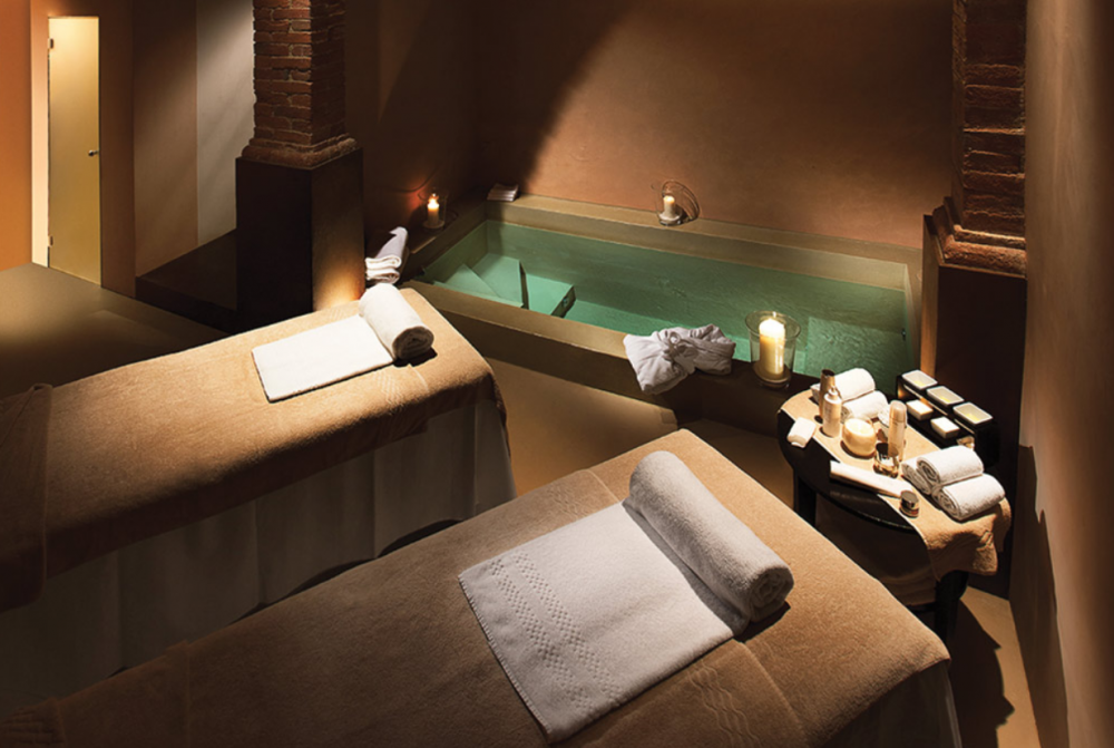 spa in a charming wedding villa in tuscany