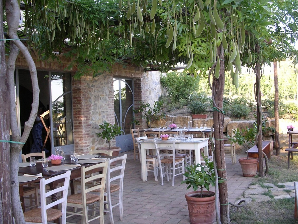 pergola in a wedding hamlet in siena