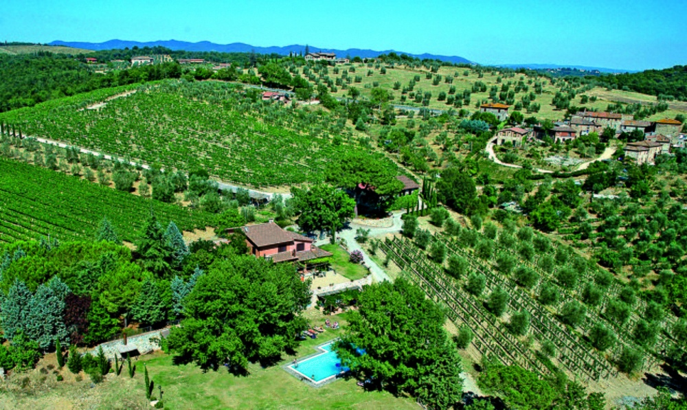property view of a hamlet for wedding in siena