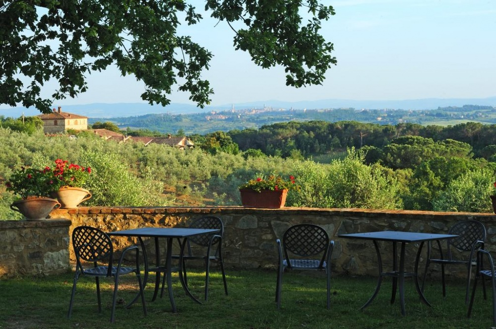 landscape view in a wedding hamlet in siena