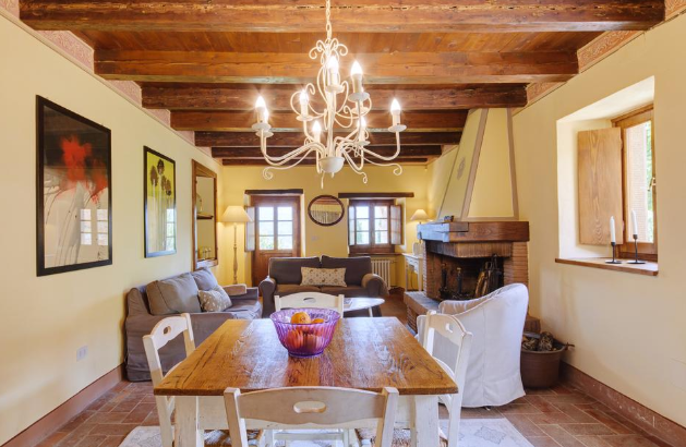 dream wedding hamlet with living room in tuscany