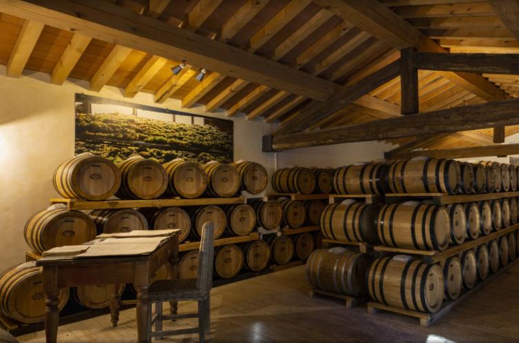cellar in a elegant wedding resort in tuscany