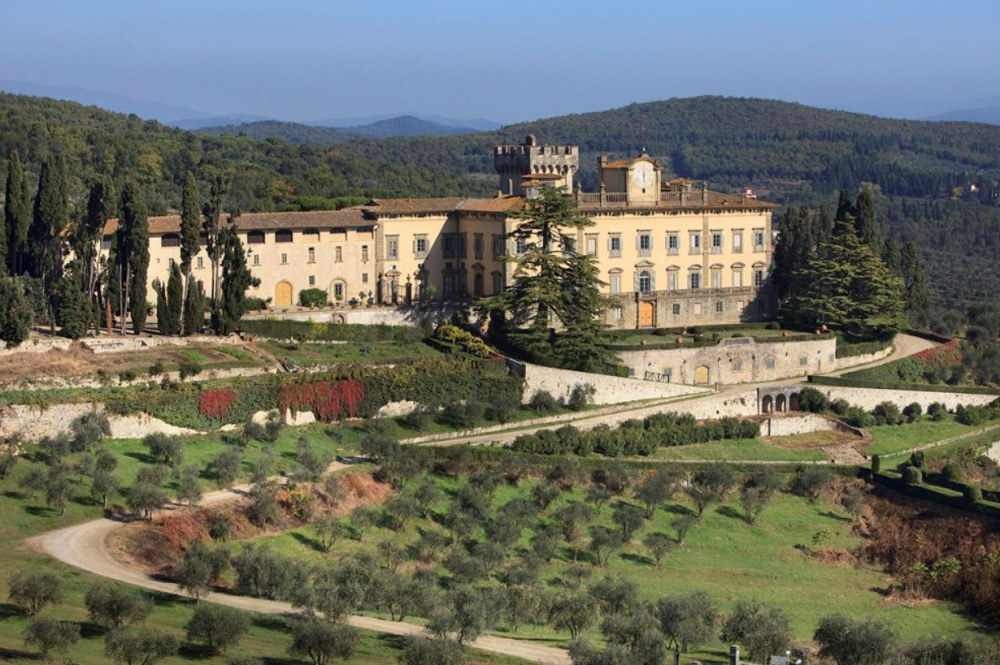 elegant wedding resort in tuscany view