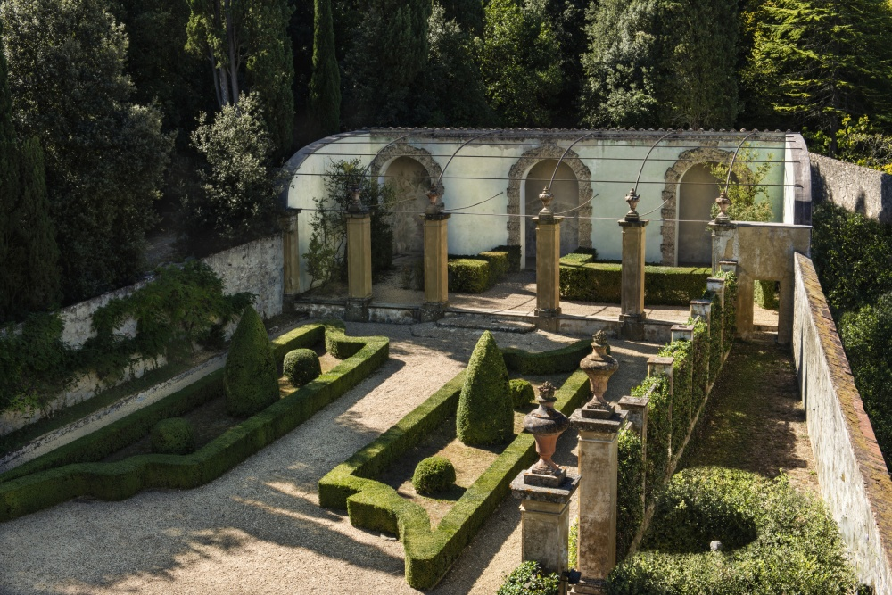 unique garden in a wedding resort in tuscany