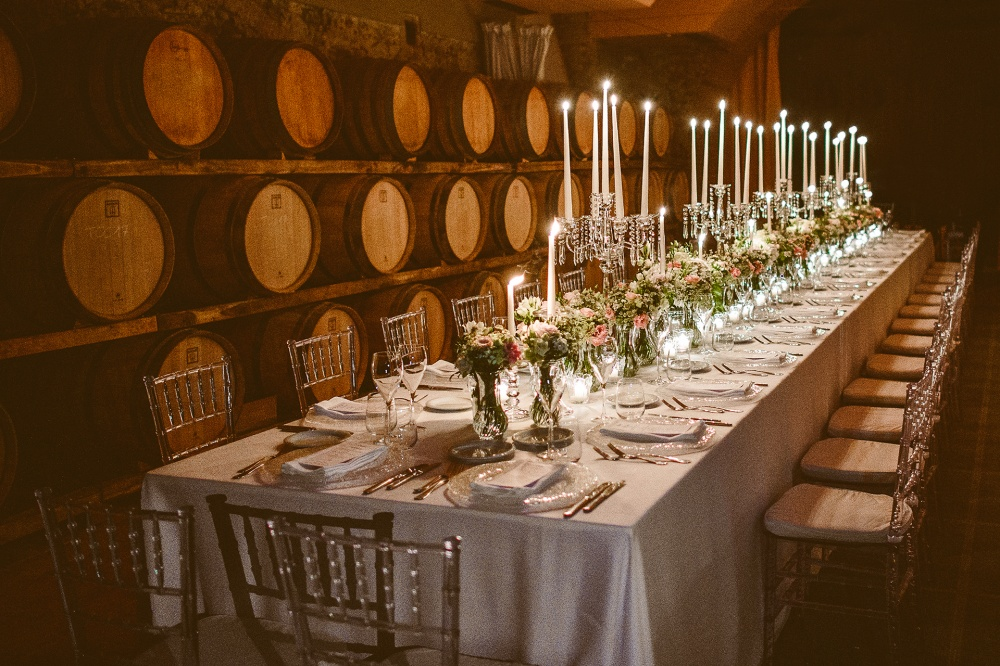 exclusive cellar in a villa for wedding in tuscany