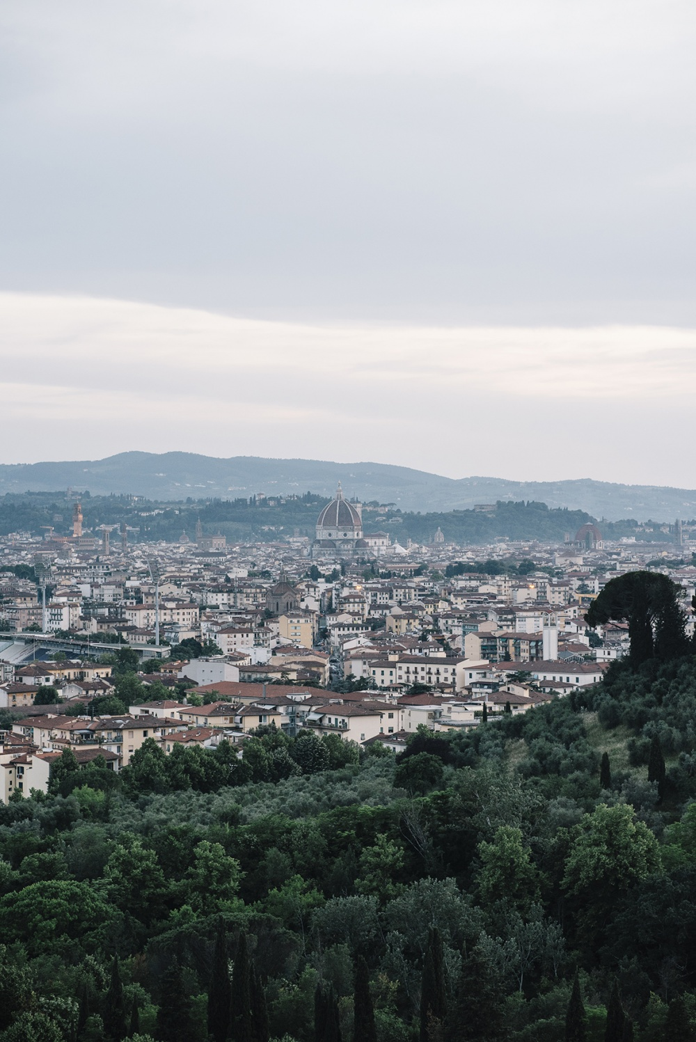 view over florence from a wedding hotel