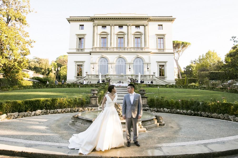 luxury hotel garden for weddings in tuscany