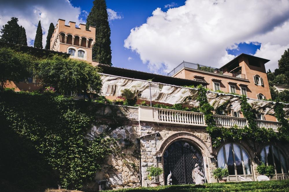 entrance of a luxury private villa