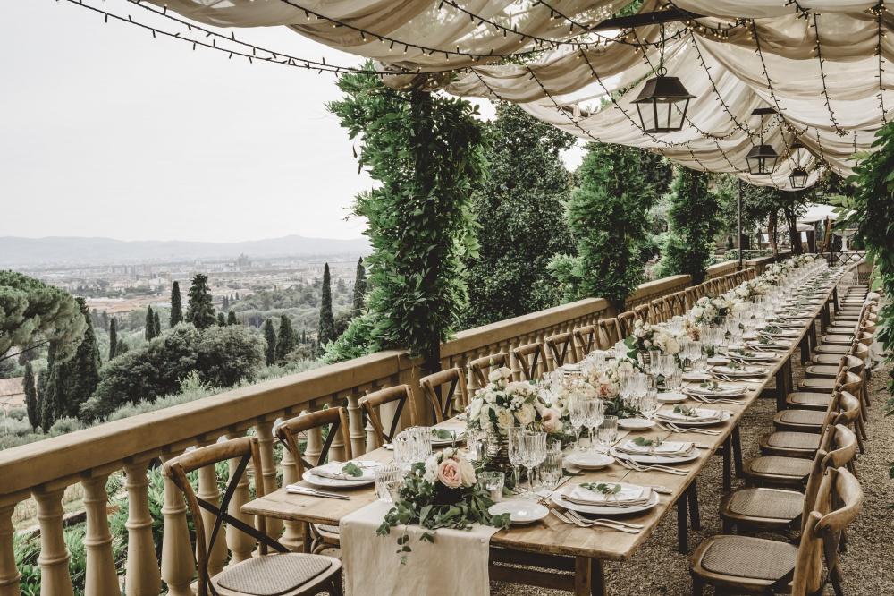 luxury private villa table