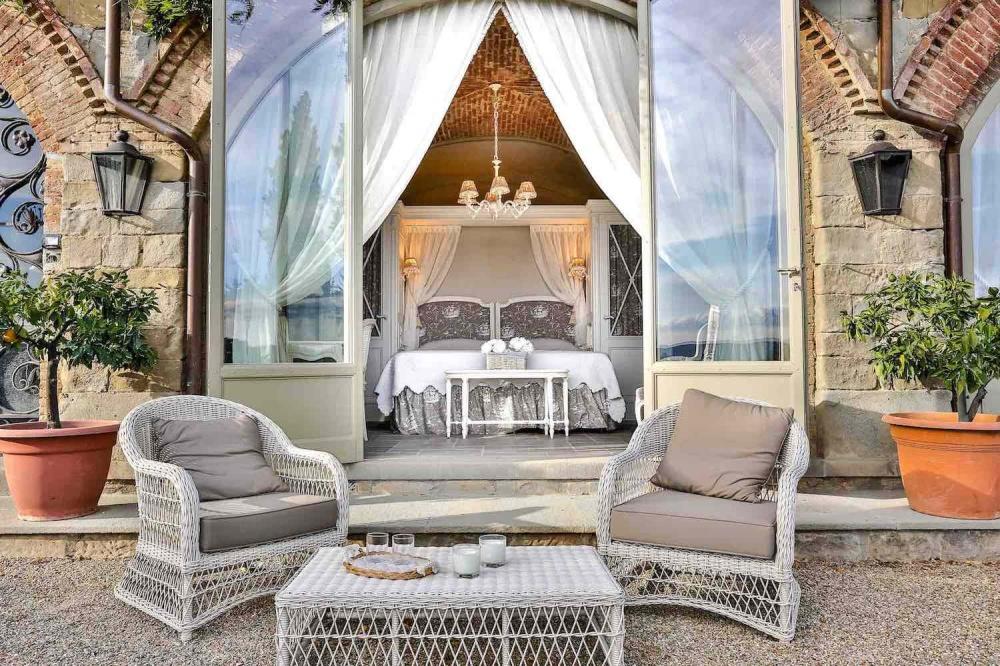 luxury private villa with sofas