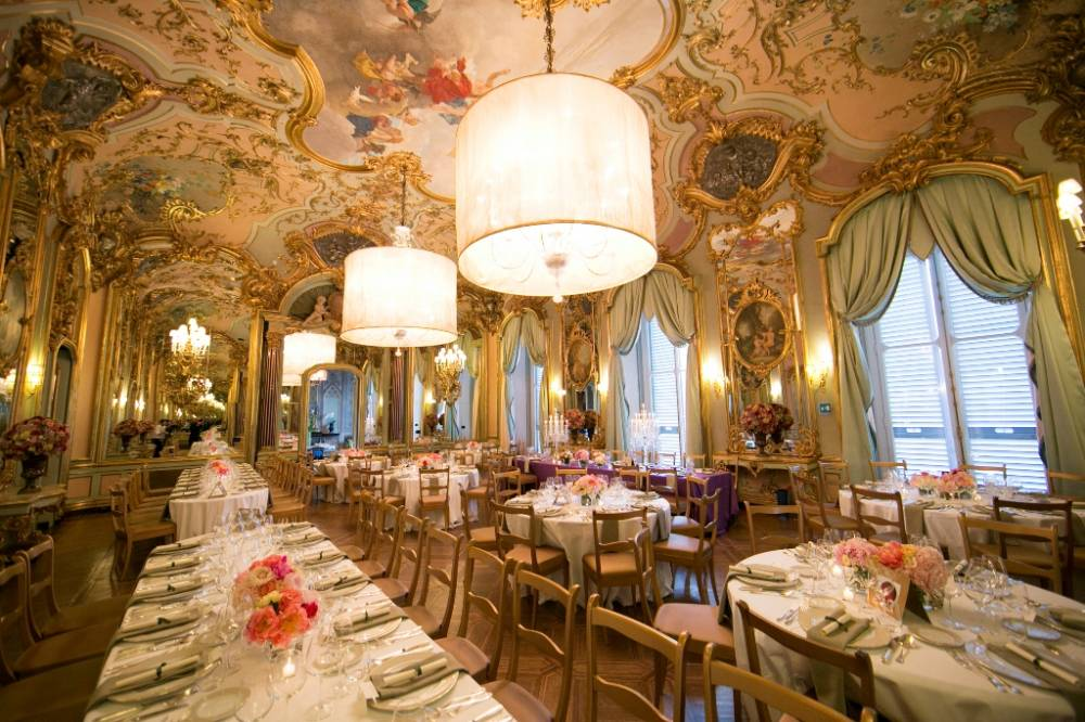 frescoes room for wedding in a hotel in florence
