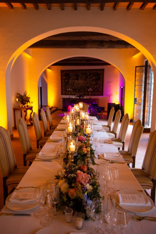 wedding dinner in a luxury resort in the tuscan countryside