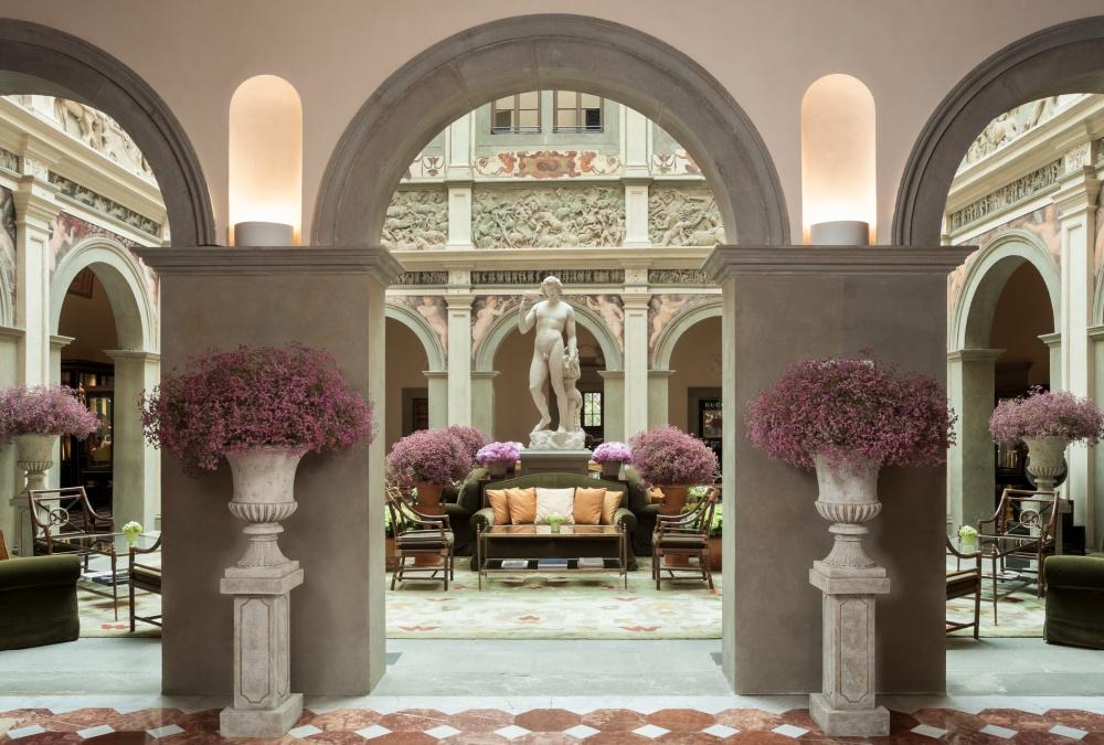 luxury wedding villa lobby hall in florence