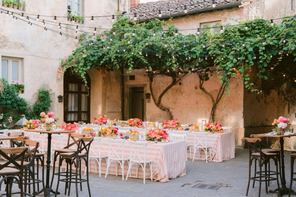 resurant for welcome night weddings in tuscany