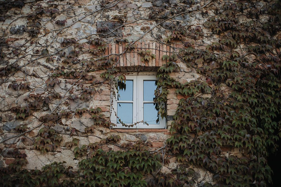 amazing facade with greenery in a romatic wedding villa in siena
