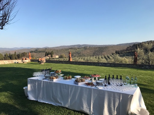 terrace view in a wedding farmhouse in tuscany