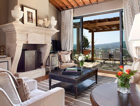 living room in a wedding resort