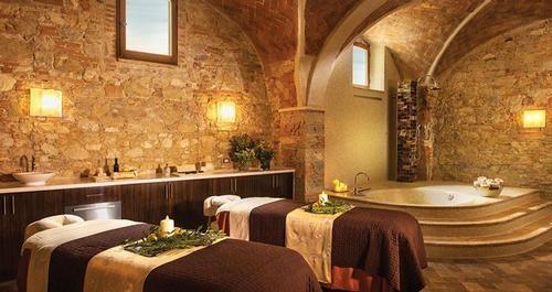 spa area in a wedding resort