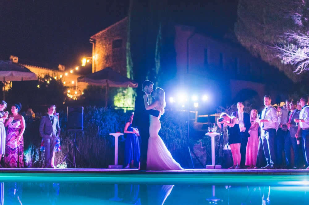 wedding dancing party in a hamlet in tuscany