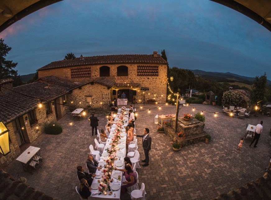 suare in a tiny wedding hamlet in tuscany