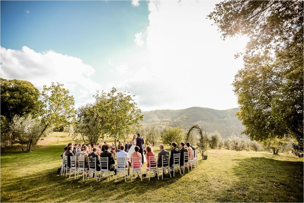 ceremony in a tuscan farmhouse