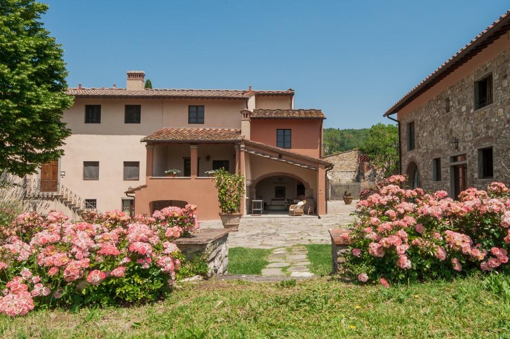 square in a tuscan farmhouse