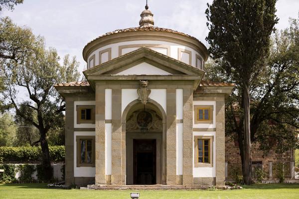tuscan wedding villa with church