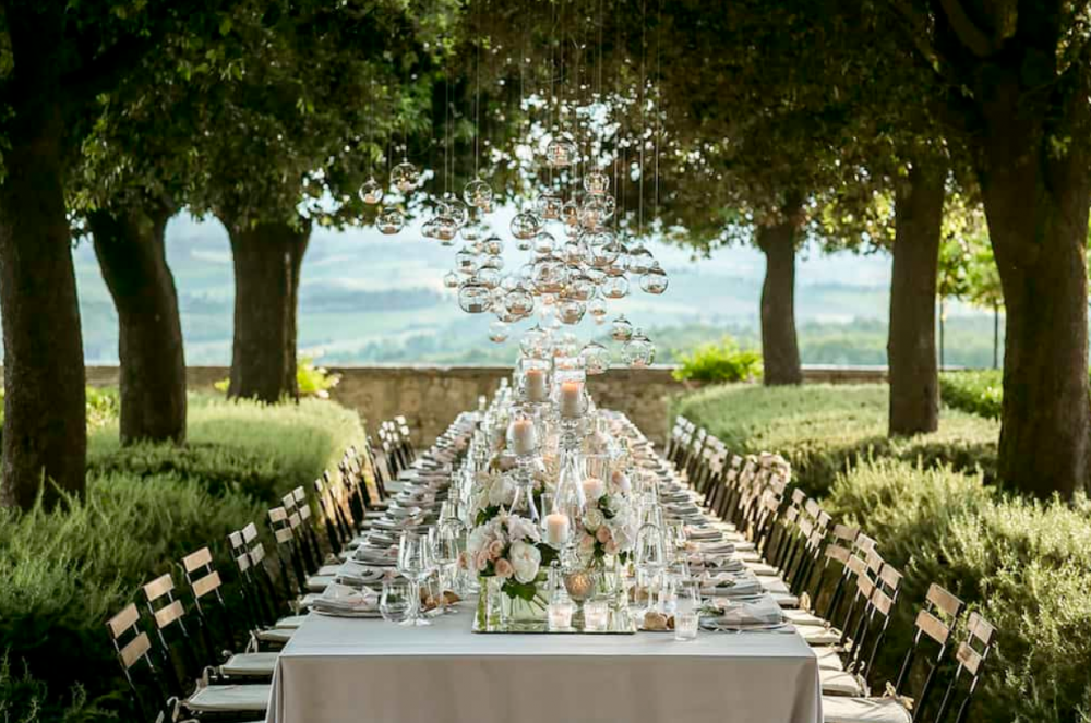 tuscany vibes country wedding table decoration