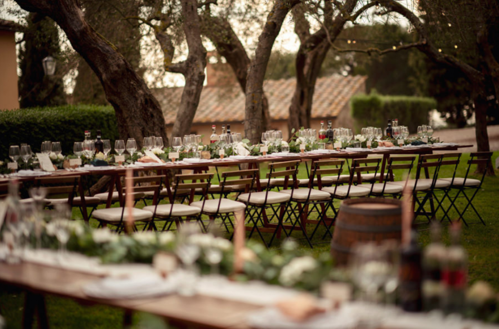 tuscany vibes country wedding dinner table decoration