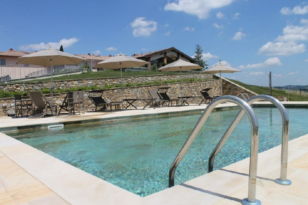 pool in a tuscany villa