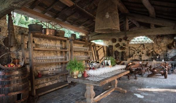 tuscany wedding hamlet pizza area