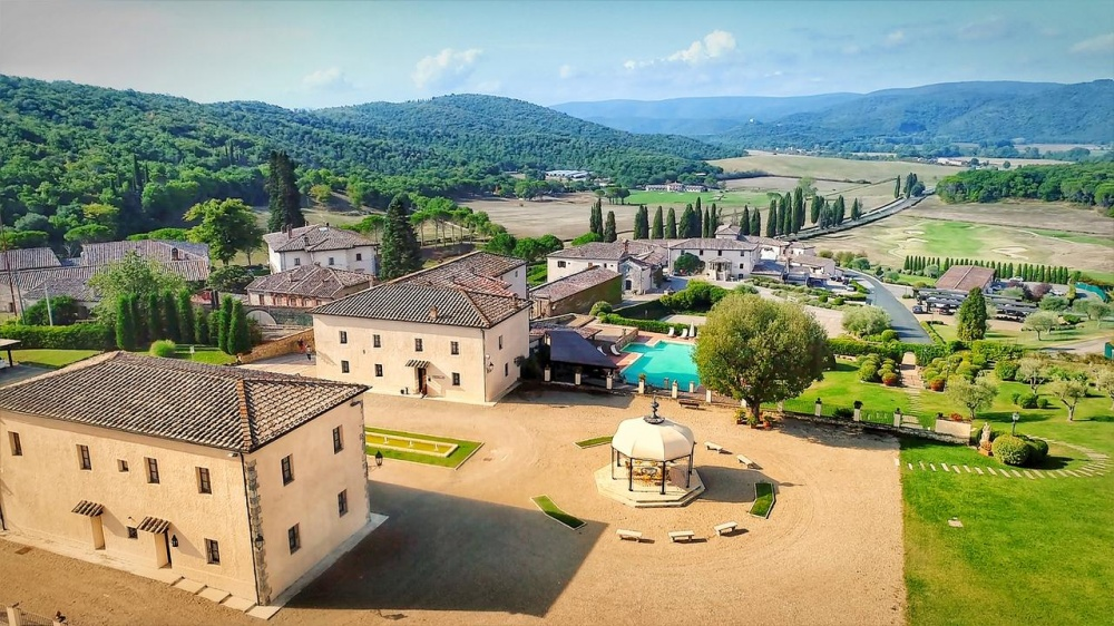 aerial view venues for indian weddings in tuscany