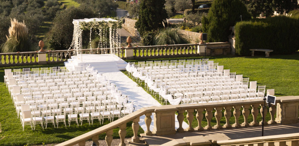 terrace in a venue for indian weddings in tuscany