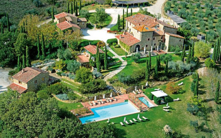 aerial view of venues for wedding in italy