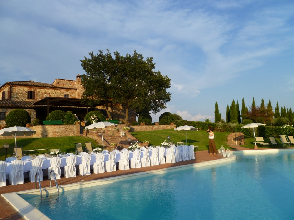 venues for weddings in tuscany pool and villa view
