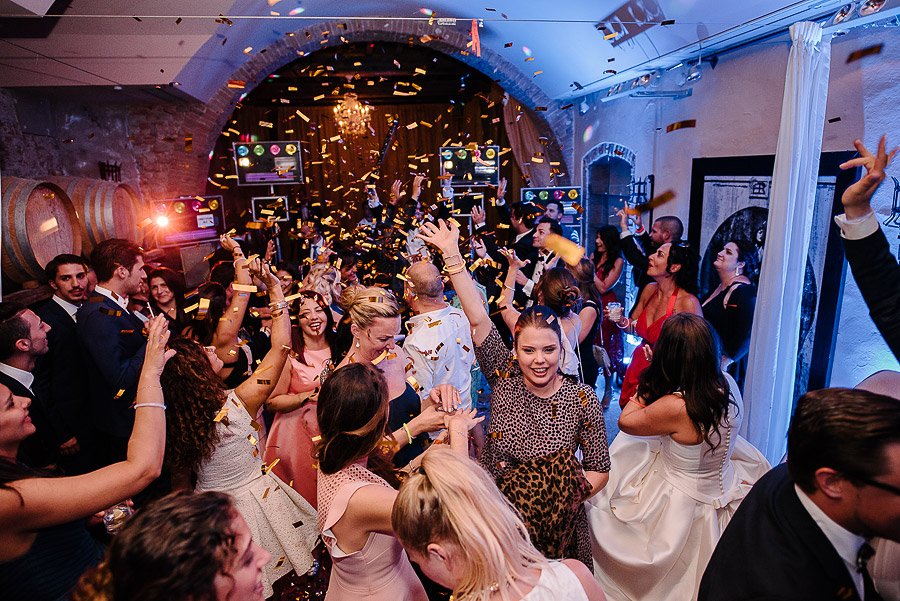 party in a villa for wedding in florence