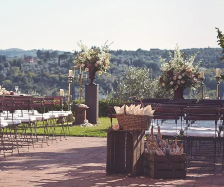 ceremony in a villa for wedding