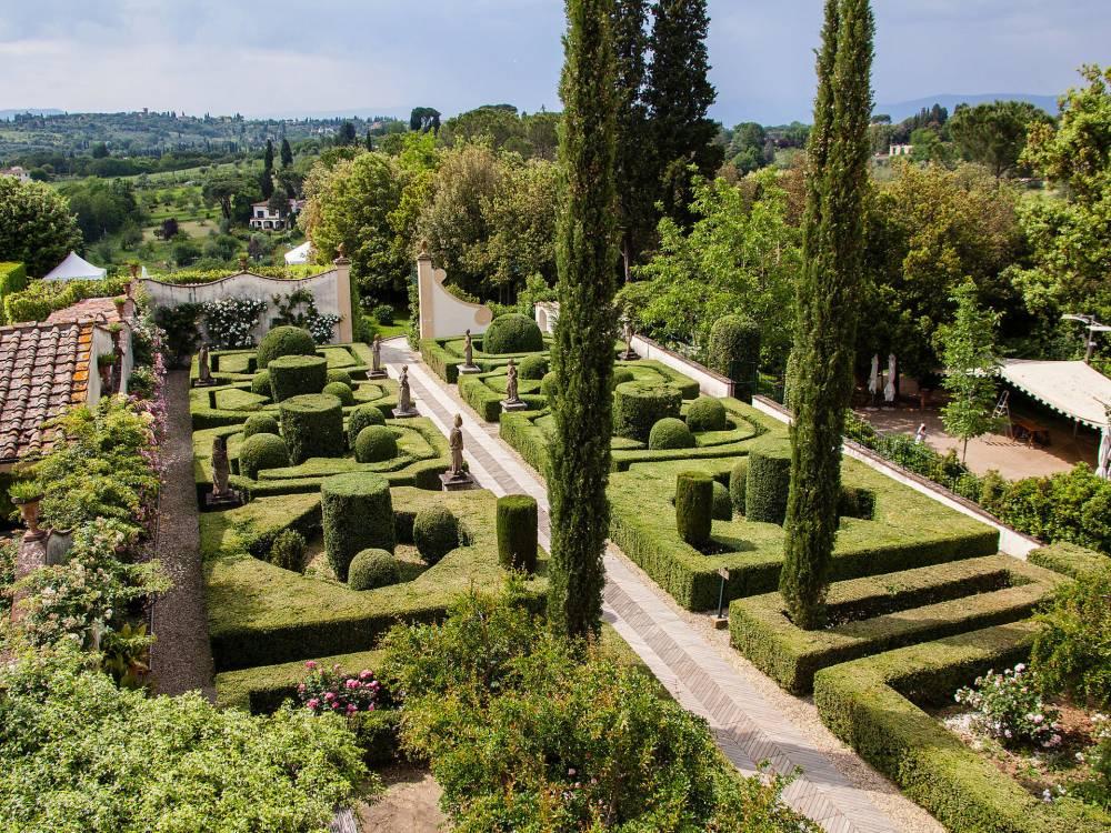 italian garden in florence