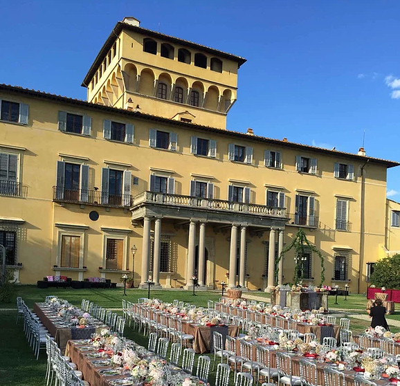 dinner in a villa for marriage in tuscany