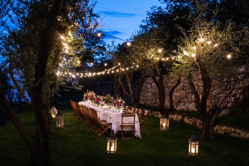 wedding dinner in a villa in siena