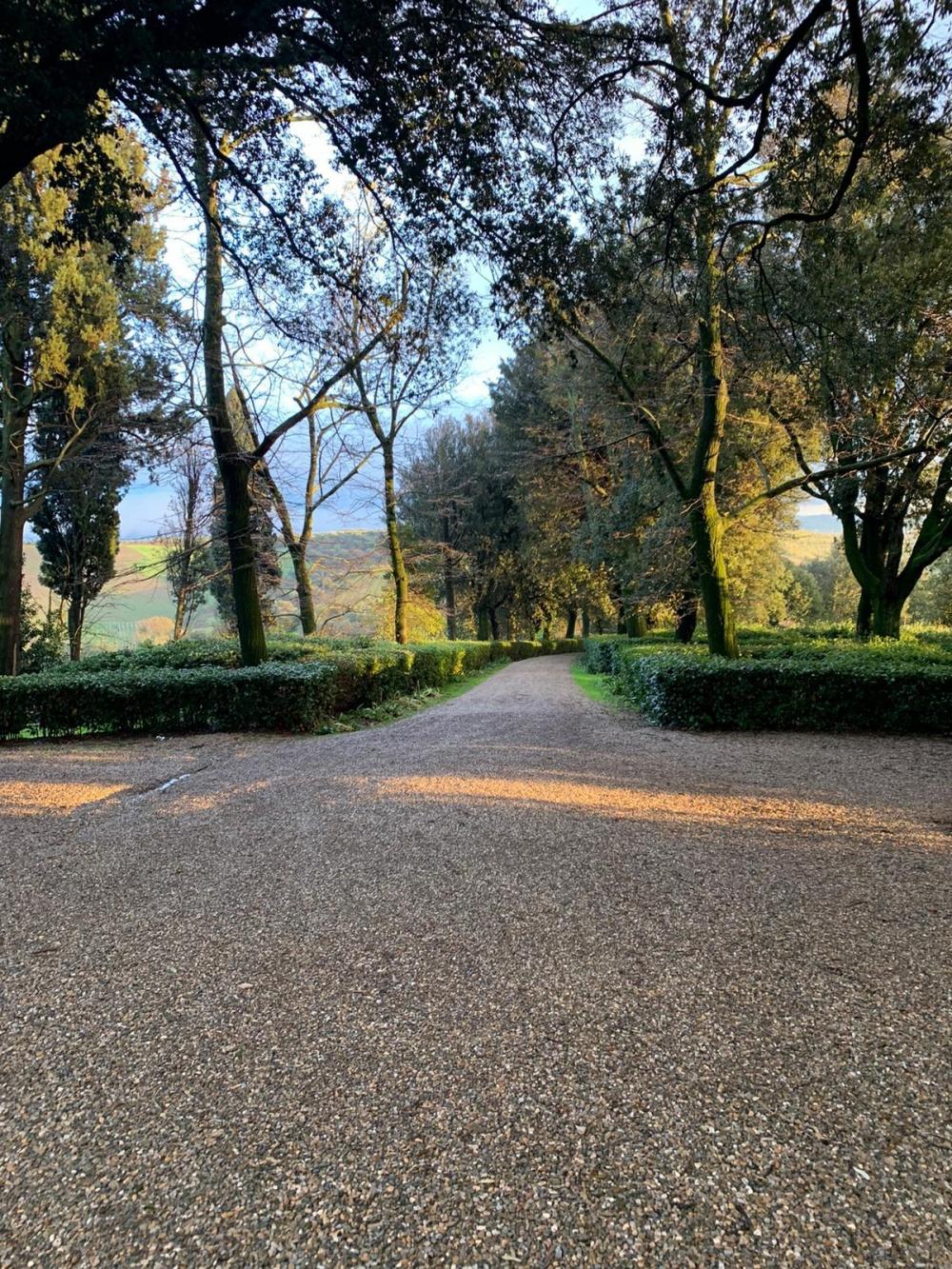 entrance of a villa in tuscany