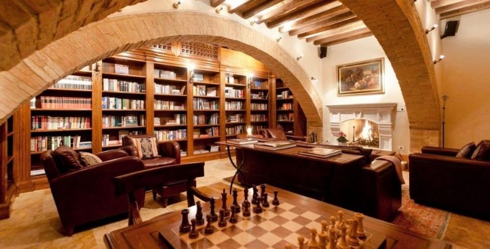 cellar in a villa in tuscany
