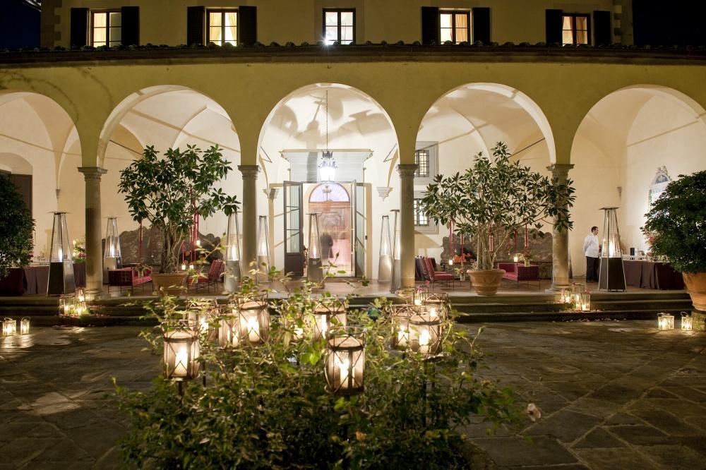 loggia in a villa in florence
