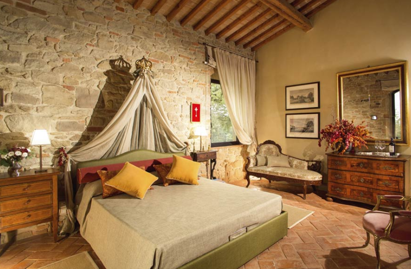 wedding room in tuscany