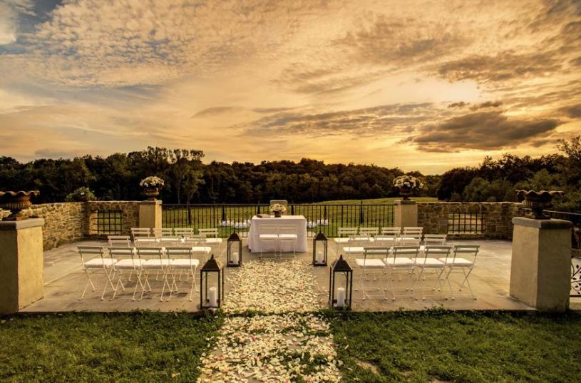 terrace of a wedding villa