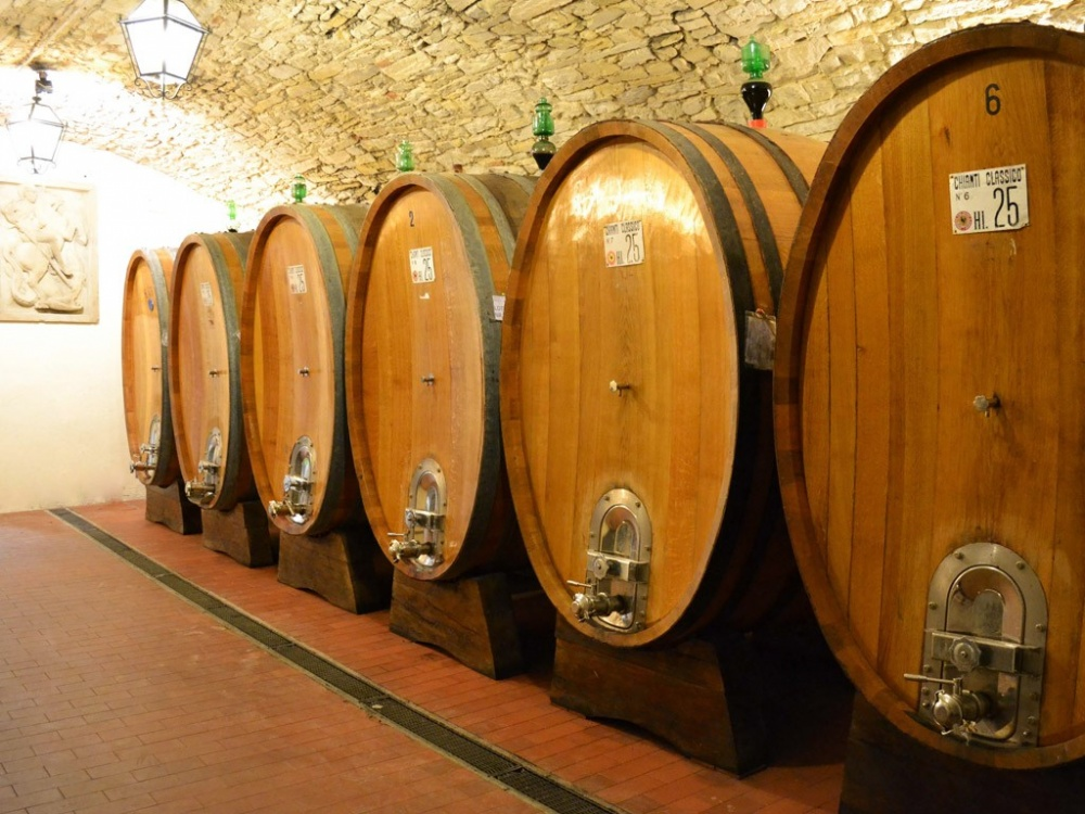 cellar in a wedding castle in chianti