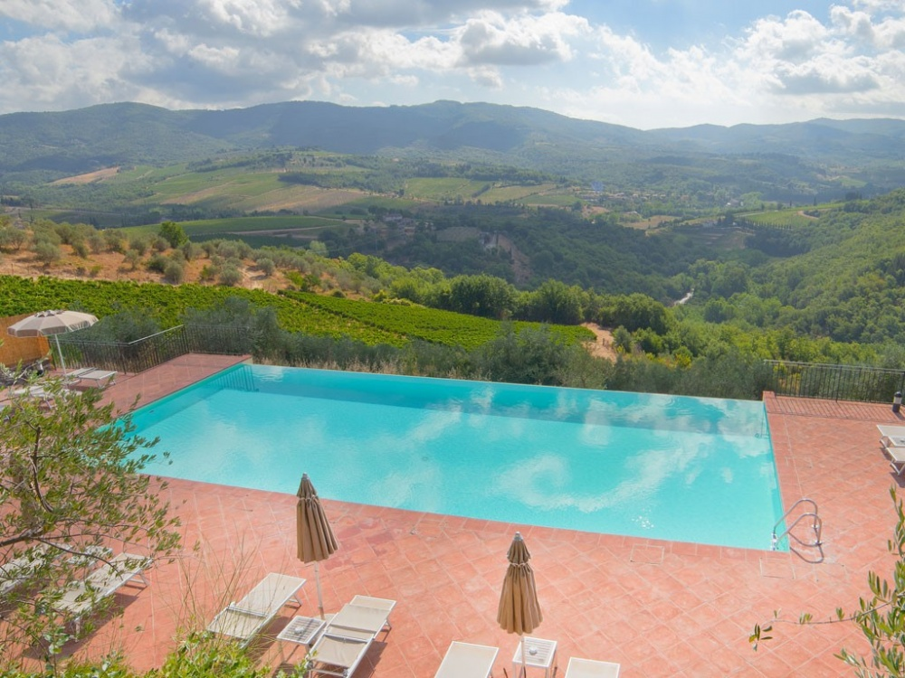wedding castle with pool in chianti tuscany